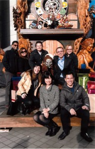 The Goldbeck Team with Santasquatch