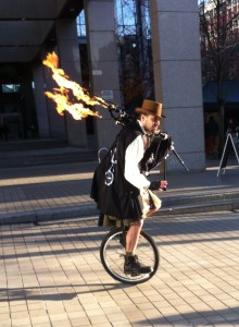 The Unipiper Showing Off his Skills