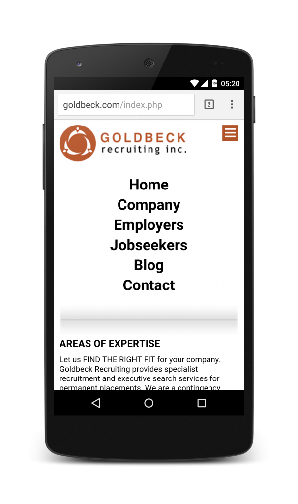 Goldbeck Recruiting Mobile Website